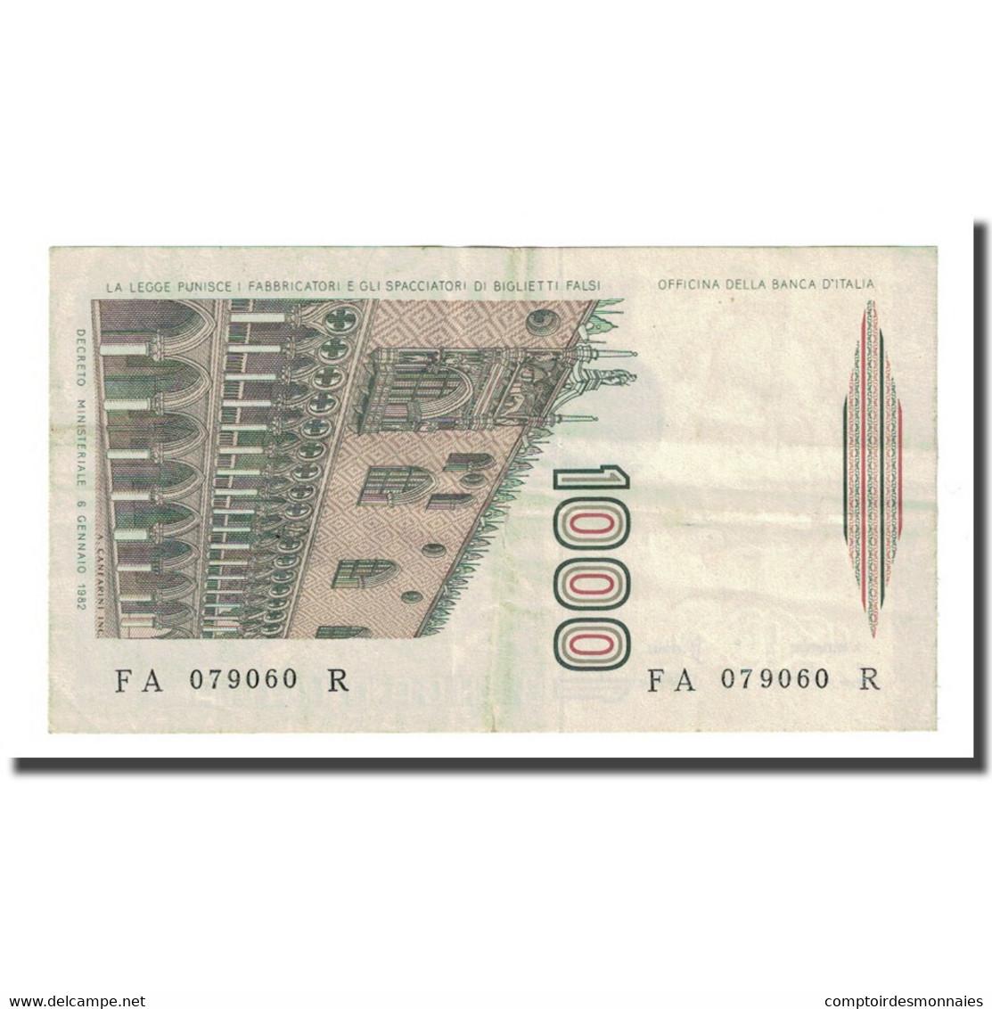 Billet, Italie, 1000 Lire, D.1982, KM:109a, TTB - [ 2] 1946-… : République