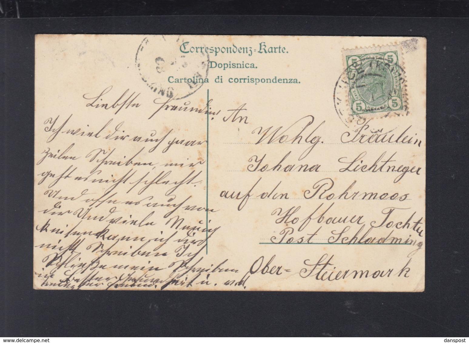 Montenegro PPC St. Staphano Budua 1908 - Montenegro