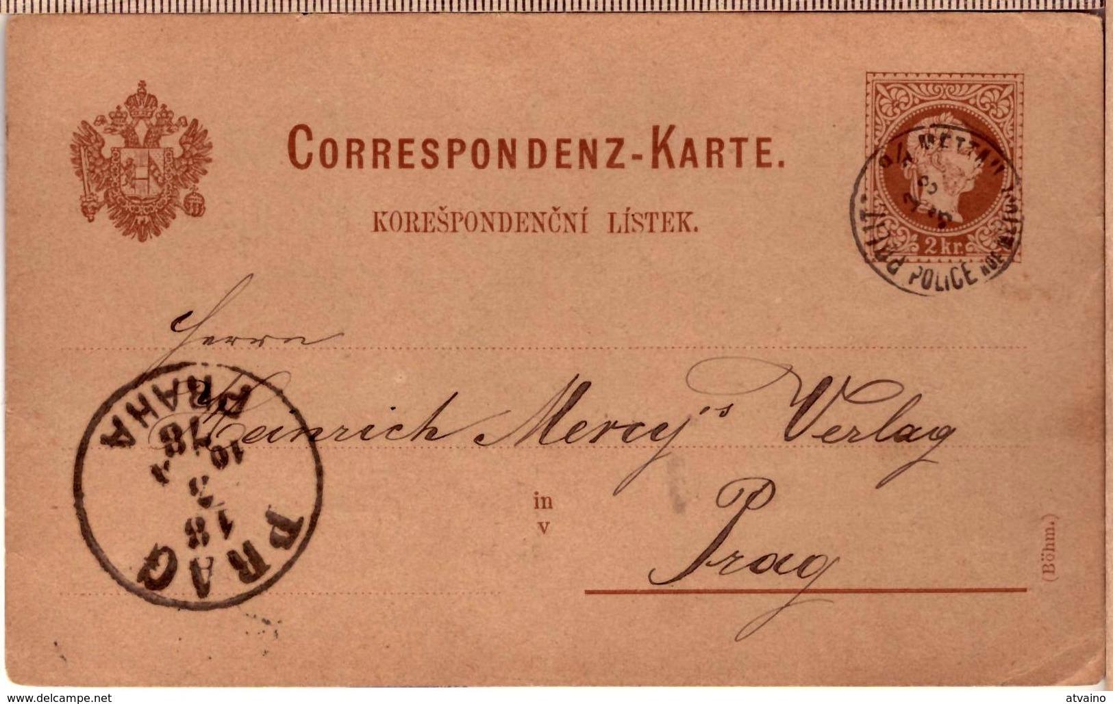 PRAG PRAHA CANCEL PC 1878 - Tchécoslovaquie