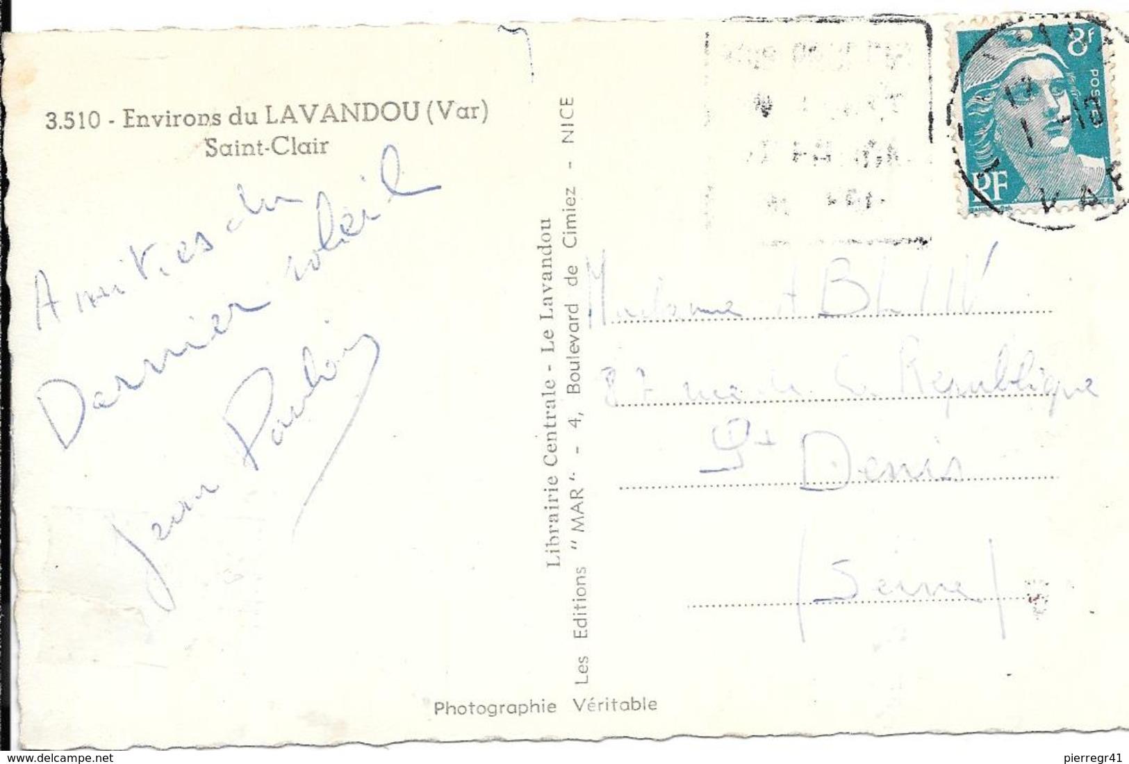 CPA-1950-83-Env LAVANDOU-St CLAIR--TBE- Coupé Un Peu A Droite Sur 1Cm - Le Lavandou