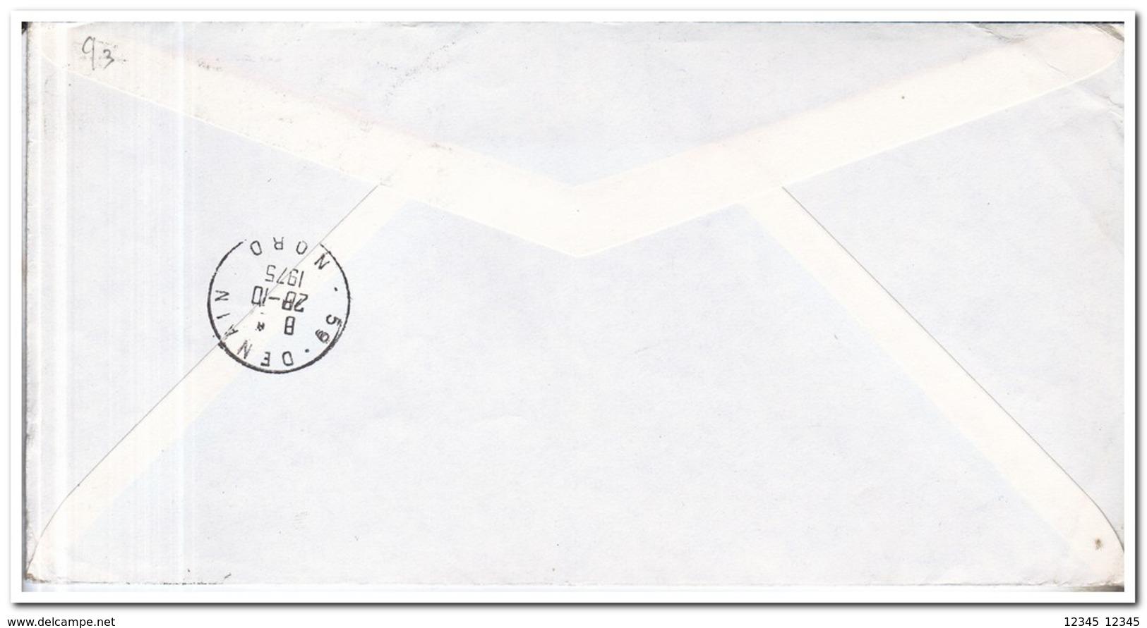 Frans Antarctica 1975, Letter To Denain, Fish Overprint, Poissons ,surimpression - Brieven En Documenten