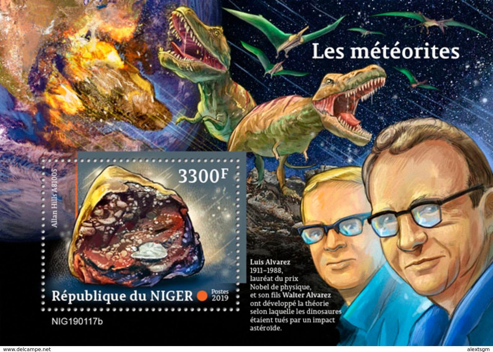NIGER 2019 - Meteorites, Dinosaurs S/S. Official Issue - Prehistorisch