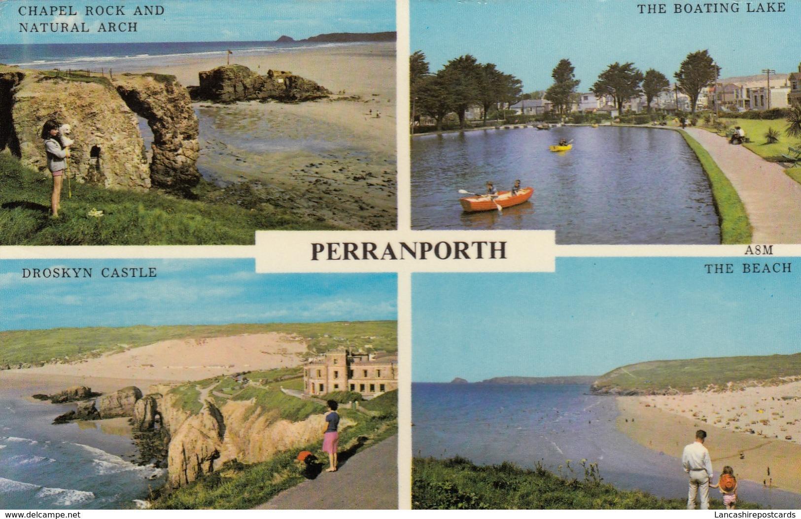 Postcard Perranporth Multiview With Truro Slogan Cancel My Ref  B13030 - Other
