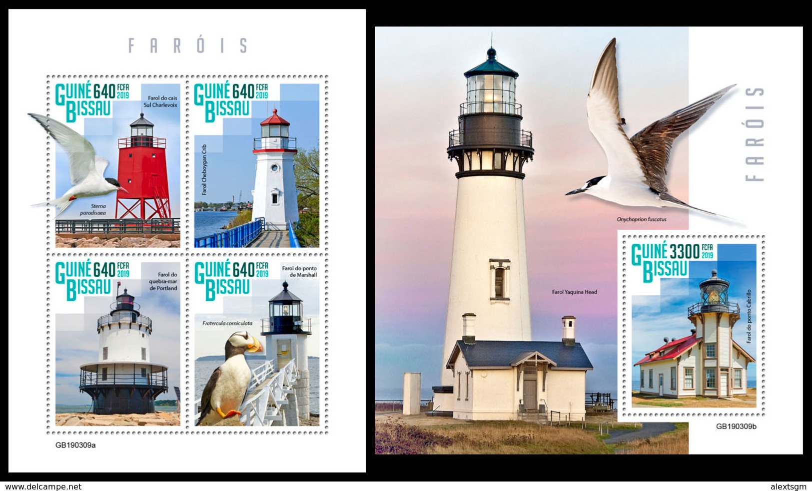 GUINEA BISSAU 2019 - Lighthouses. M/S + S/S. Official Issue - Vuurtorens