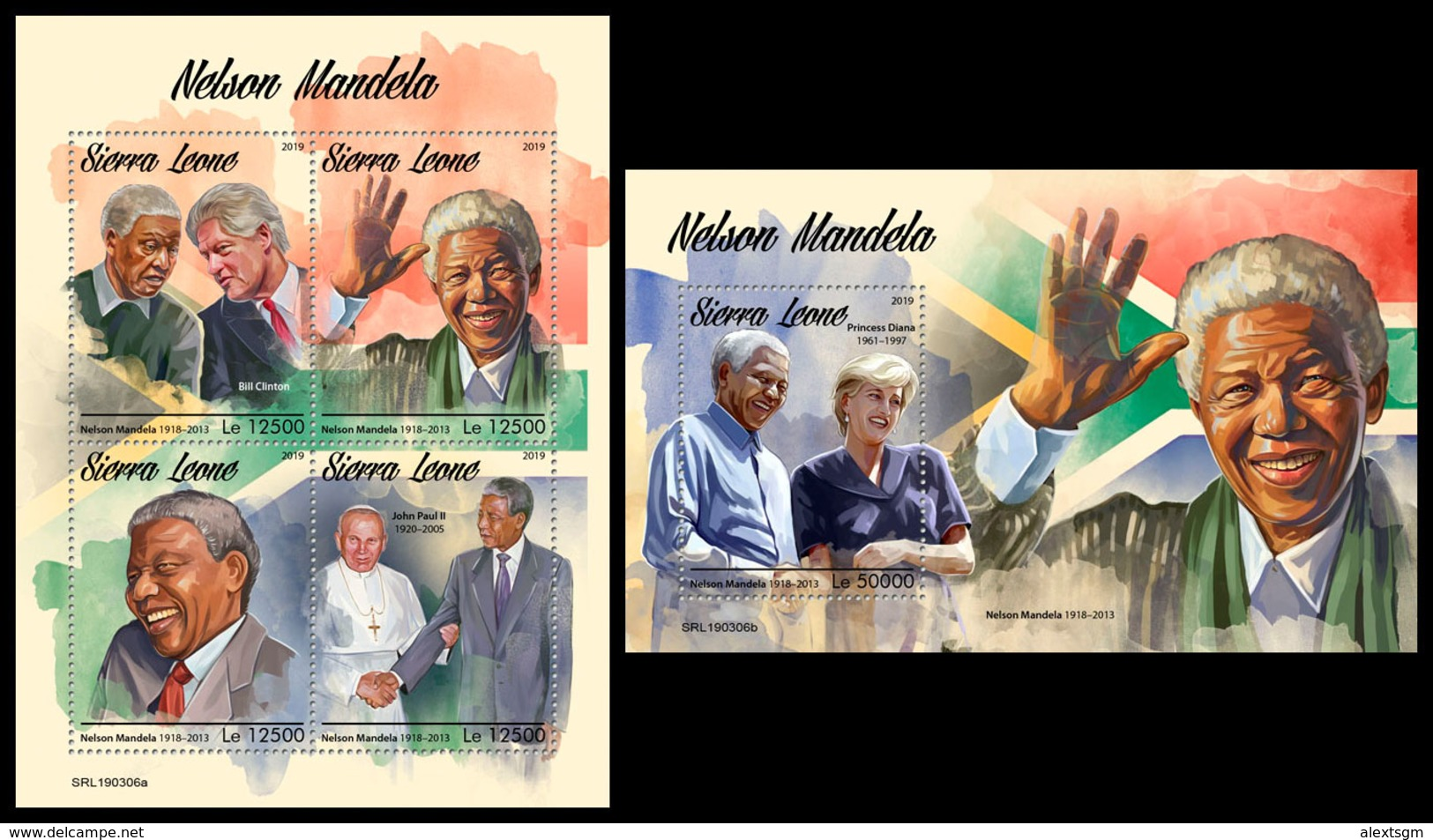 SIERRA LEONE 2019 - Nelson Mandela. M/S + S/S Official Issue. - Beroemde Personen