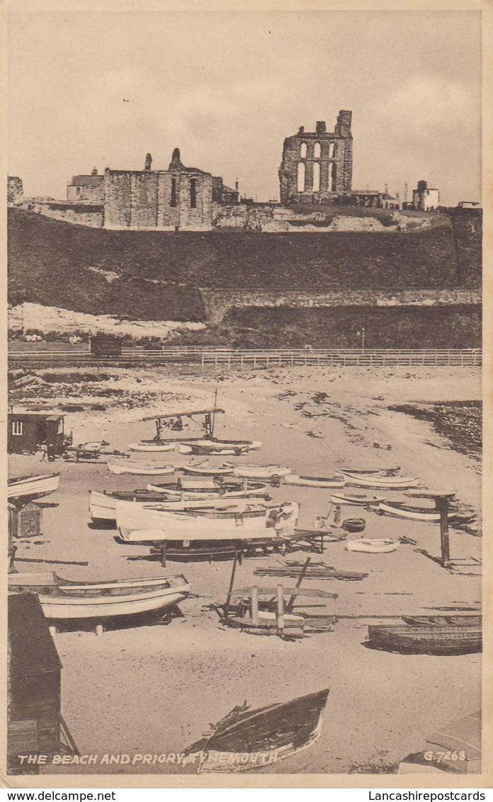 Postcard The Beach And Priory Tynemouth PU 1948 To RAF Station Newton Notts My Ref  B13034 - England