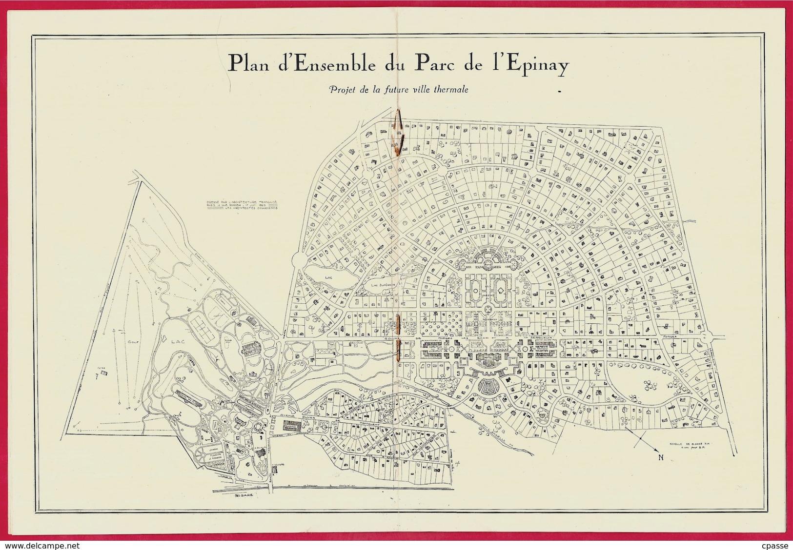 Fascicule Publicitaire Sur La STATION THERMALE De 76 FORGES-les-EAUX Avec Plan Du Parc De L'Epinay ...(Tous Les Scans) - Vieux Papiers