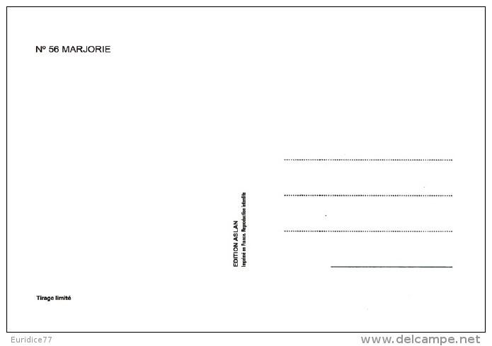 Aslan  Erotic Risque Postcard - Sexy Nude Nº 56 Marjorie, Limited Edition - Size: 15x10 Cm. Aprox. - Aslan