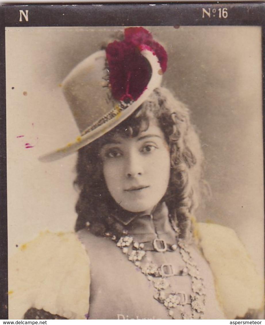 DIETERIE. COLORISE. CARD TARJETA COLECCIONABLE TABACO. CIRCA 1915 SIZE 4.5x5.5cm - BLEUP - Berühmtheiten
