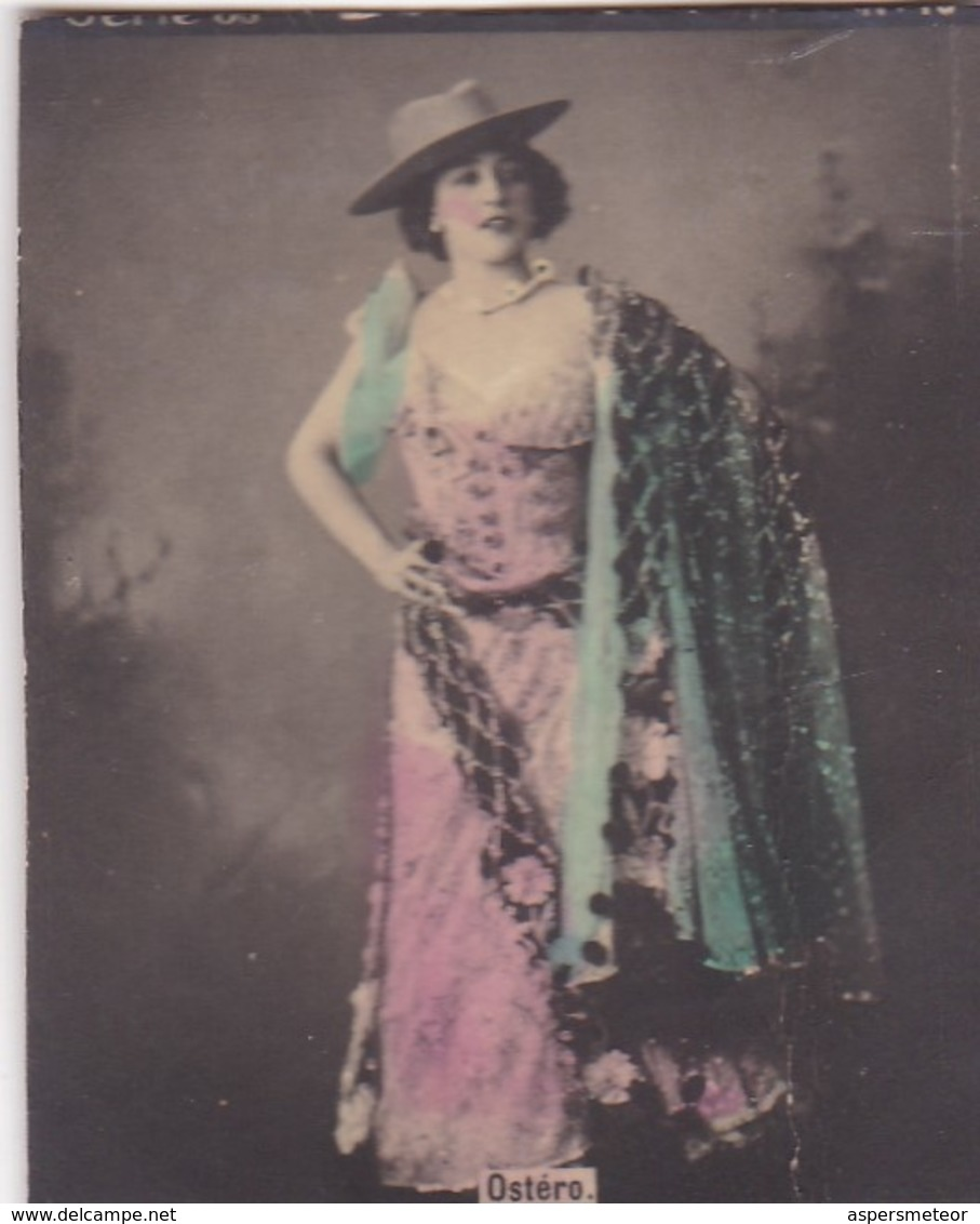 OSTERE. COLORISE. CARD TARJETA COLECCIONABLE TABACO. CIRCA 1915 SIZE 4.5x5.5cm - BLEUP - Berühmtheiten
