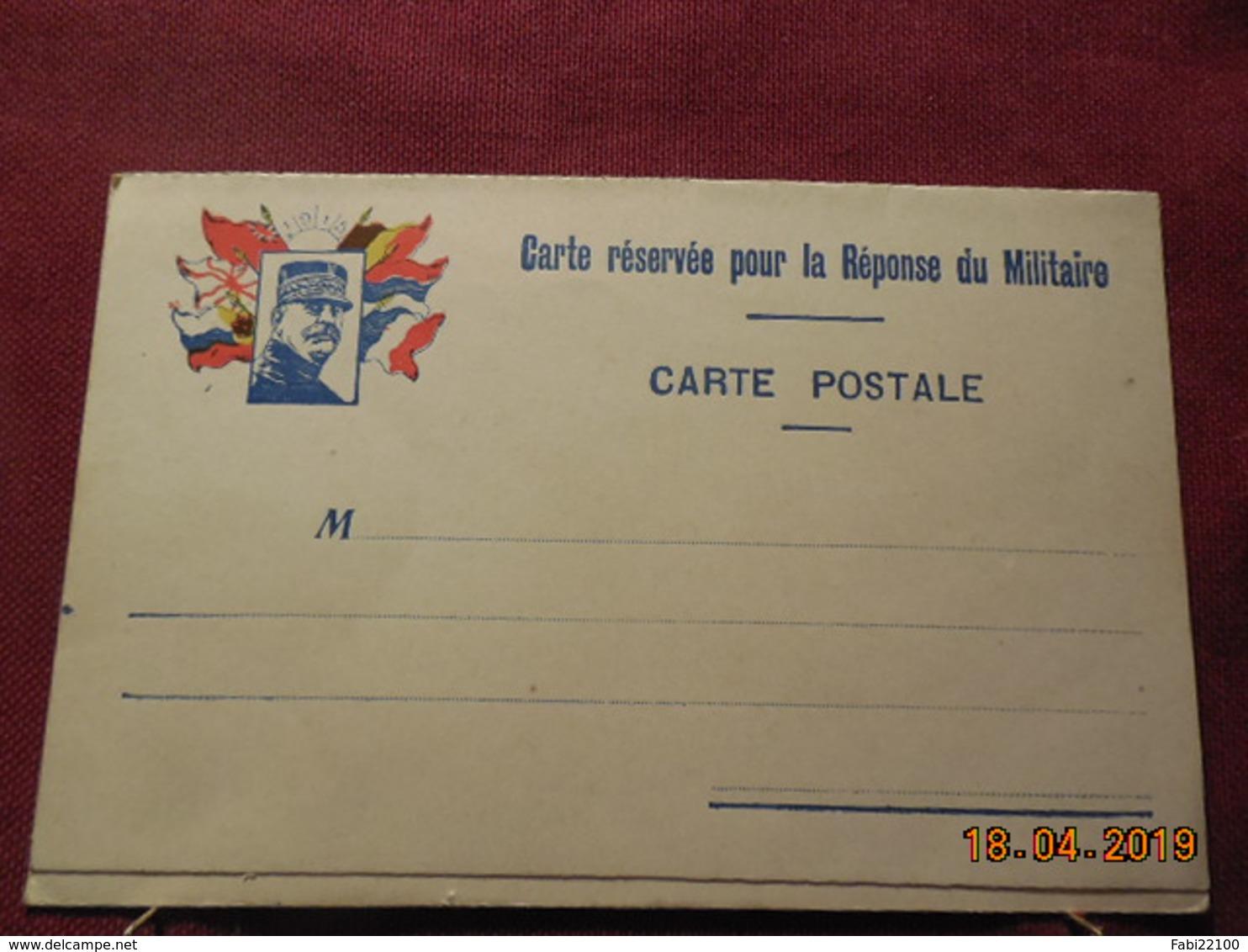 Carte En FM De 1915 Avec Carte Réponse - Cartes De Franchise Militaire