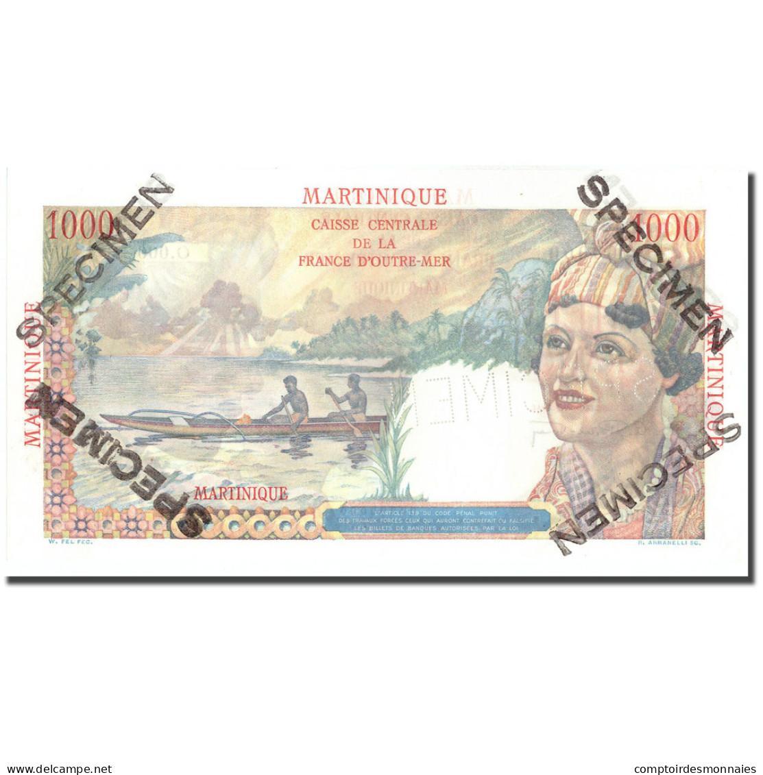 Billet, Martinique, 1000 Francs, Undated (1946), KM:33, NEUF - Specimen