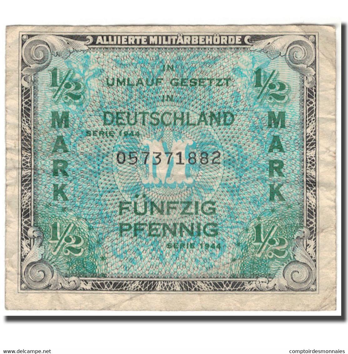 Billet, Allemagne, 1/2 Mark, 1944, KM:191a, TB - [ 5] 1945-1949 : Occupation Des Alliés