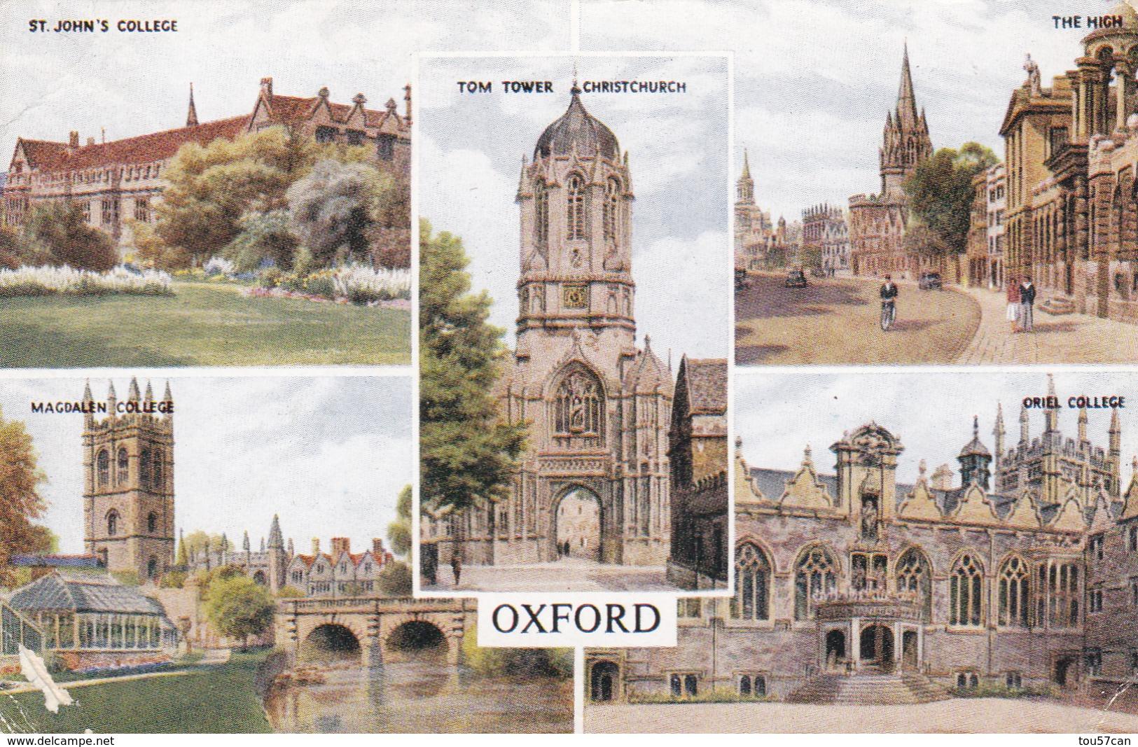 OXFORD - OXFORDSHIRE - UNITED KINGDOM - MULTI-VIEW  POSTCARD.. - Oxford