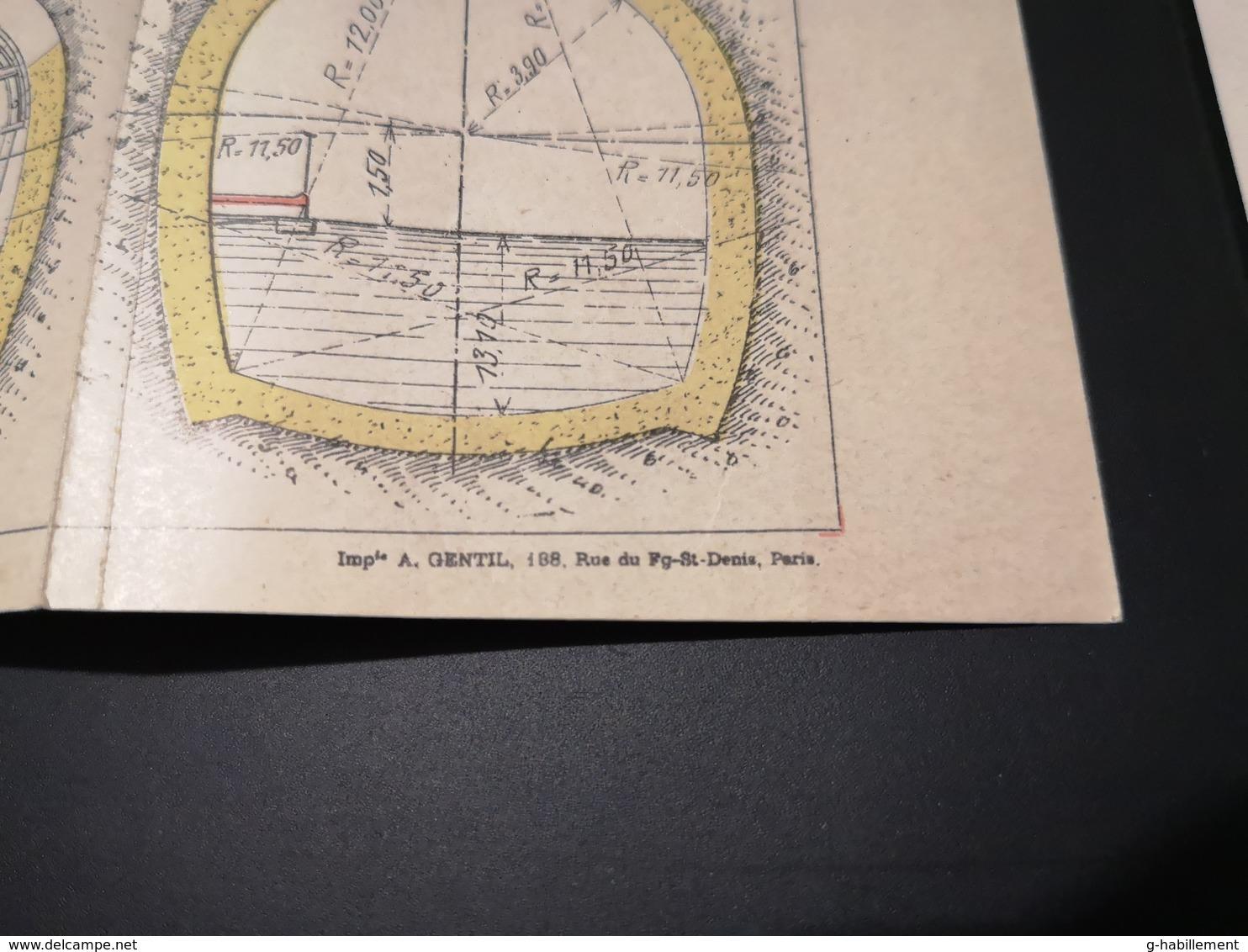 ANNALES DES PONTS Et CHAUSSEES (Dep 51) - Plan De Réfection De Maçonneries Soutterraines  - Imp A.Gentil 1912 (CLF26) - Cartes Marines