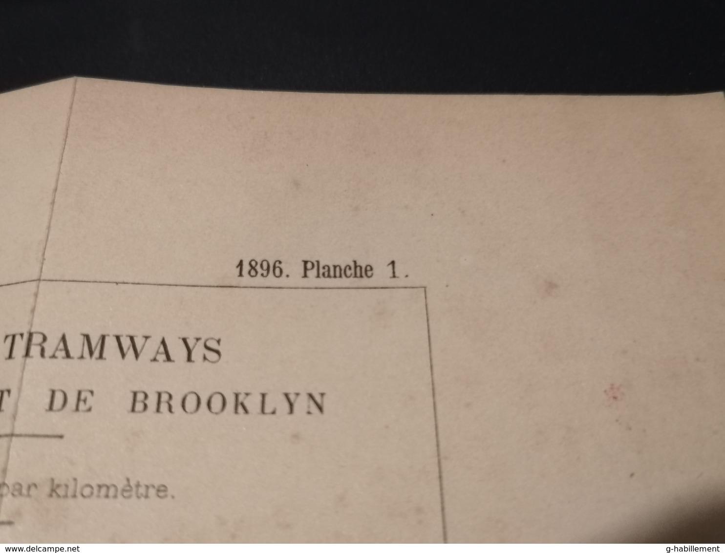 ANNALES DES PONTS Et CHAUSSEES (Etats-Unis) - Plan Des Tramways Aux Etats-Unis  - Imp L.Courtier 1896 (CLF27) - Máquinas