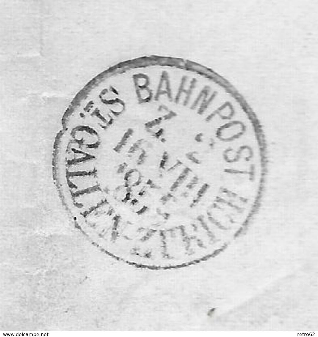 1854-1862 Helvetia (Ungezähnt) Strubel → UNIKAT !!! Rundstempel WATTWYL 1856 Anstatt 1859 ►SBK-25B3.IV◄ - Covers & Documents