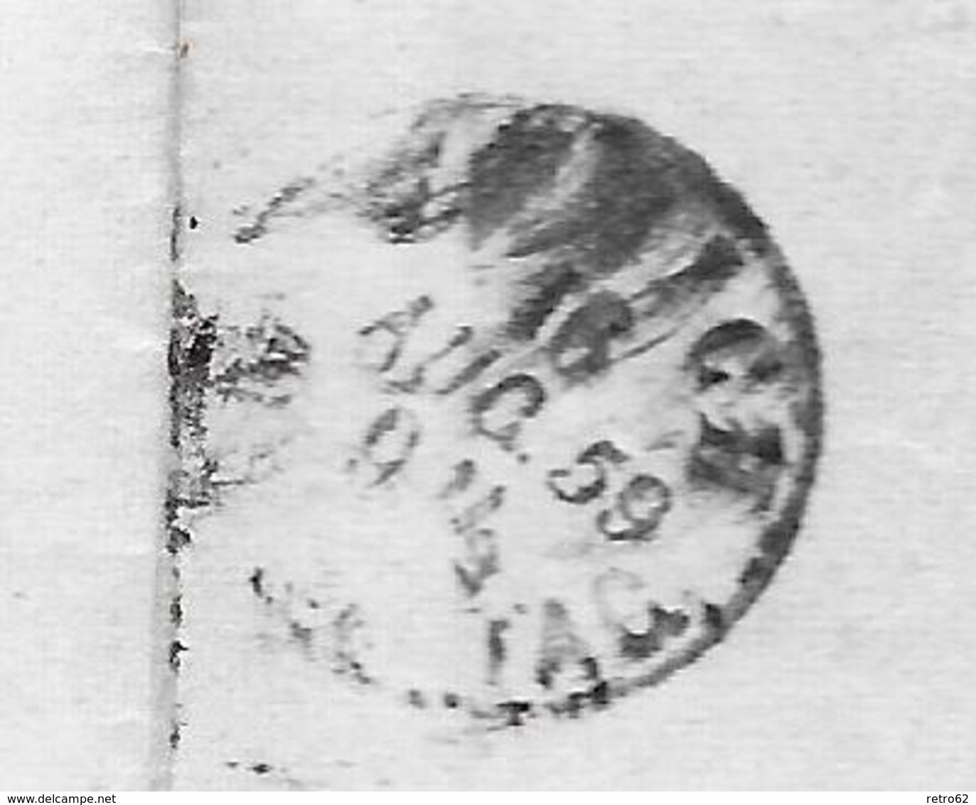 1854-1862 Helvetia (Ungezähnt) Strubel → UNIKAT !!! Rundstempel WATTWYL 1856 Anstatt 1859 ►SBK-25B3.IV◄ - Lettres & Documents