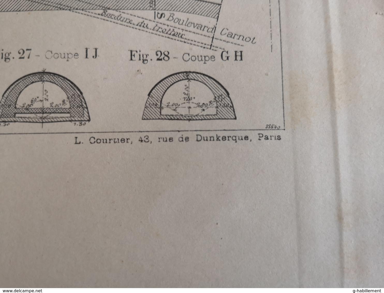 ANNALES PONTS Et CHAUSSEES (Dep 21) - Plan Des Grands Collecteurs De La Ville De Dijon - Imp L.Courtier - 1900 (CLF35) - Cartes Marines
