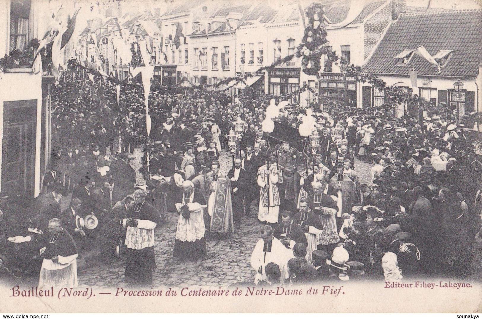 BAILLEUL - Procession Du Centenaire De Notre-Dame Du Fief - Dunkerque