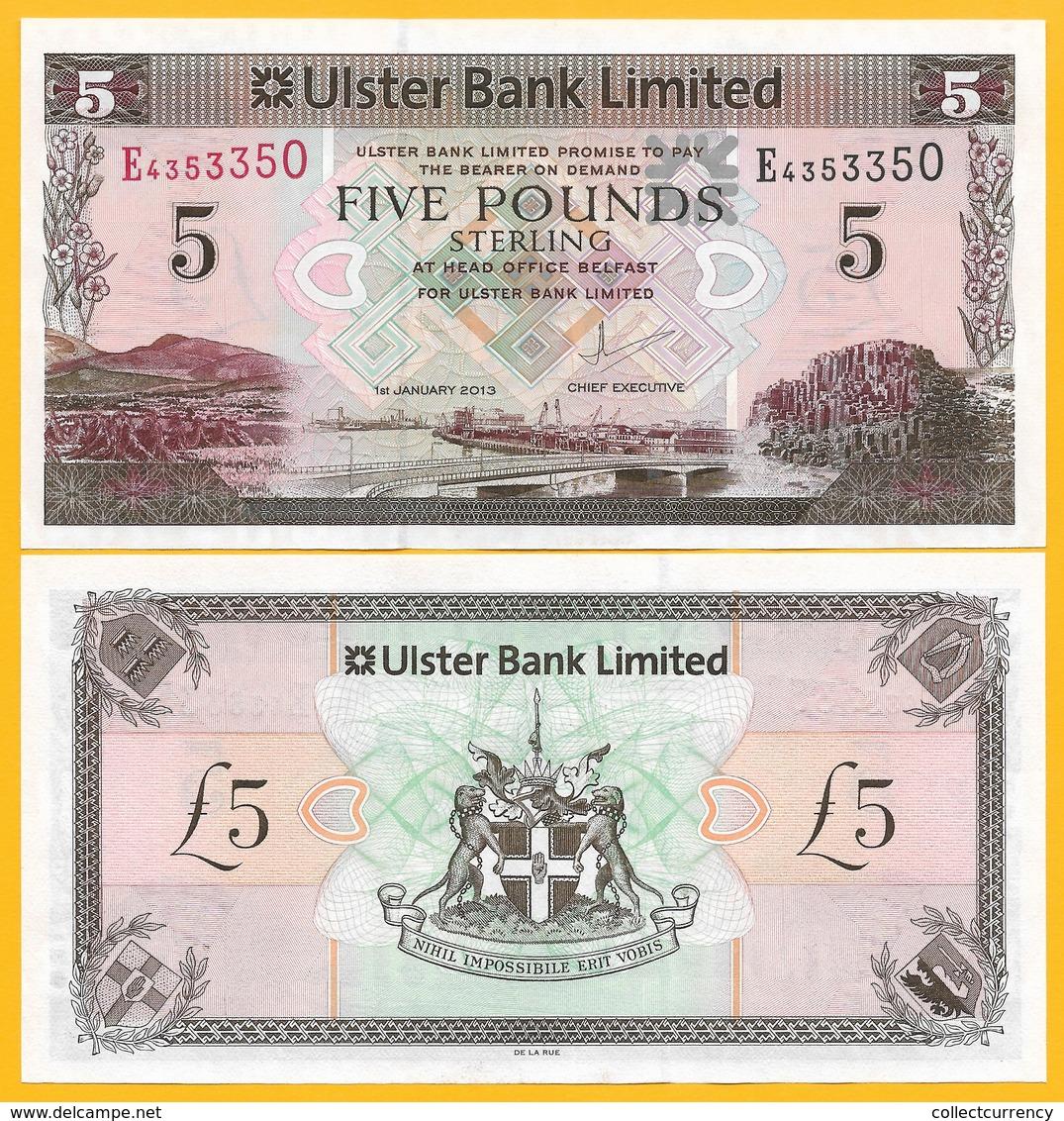 Northern Ireland 5 Pounds P-340b 2013 Ulster Bank UNC Banknote - Zonder Classificatie