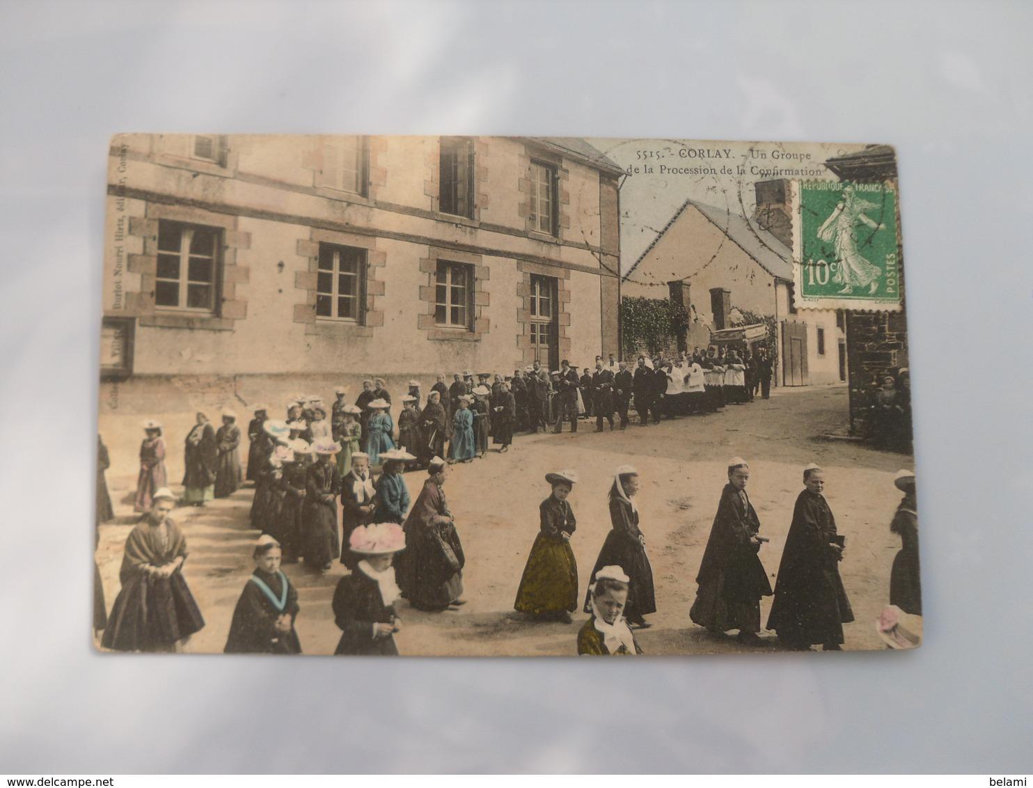 Cpa  **   Corlay  ***   Un Groupe De La Procession De La Confirmation ** Villard Luxe 5515 ** - France