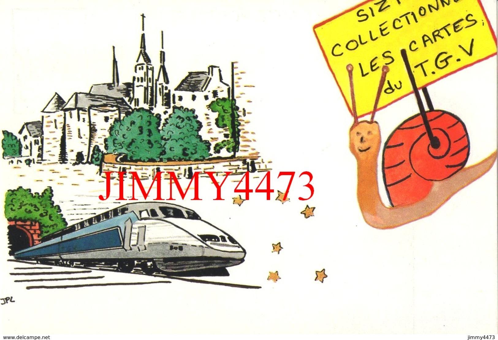 CPM - SIZI Collectionne Les Cartes Du T.G.V. - Illust. Françoise Marchand - Edit. Des Escargophiles - Trains