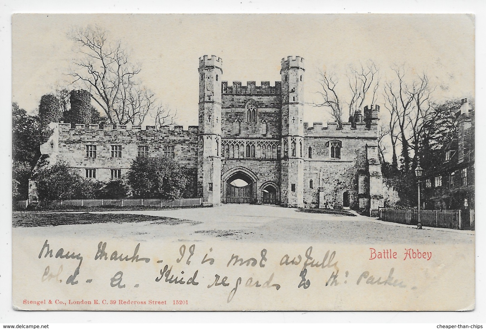 Battle Abbey - Stengel 15201 - Undivided Back - Other