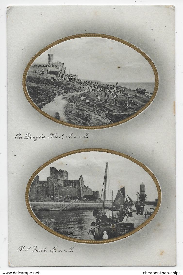 Douglas Head/Peel Castle, I.O.M. - Tuck 1375 - Isle Of Man