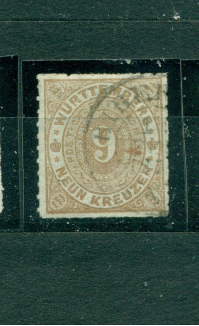 Württemberg, Wappen , Nr. 40 A Gestempelt - Wuerttemberg