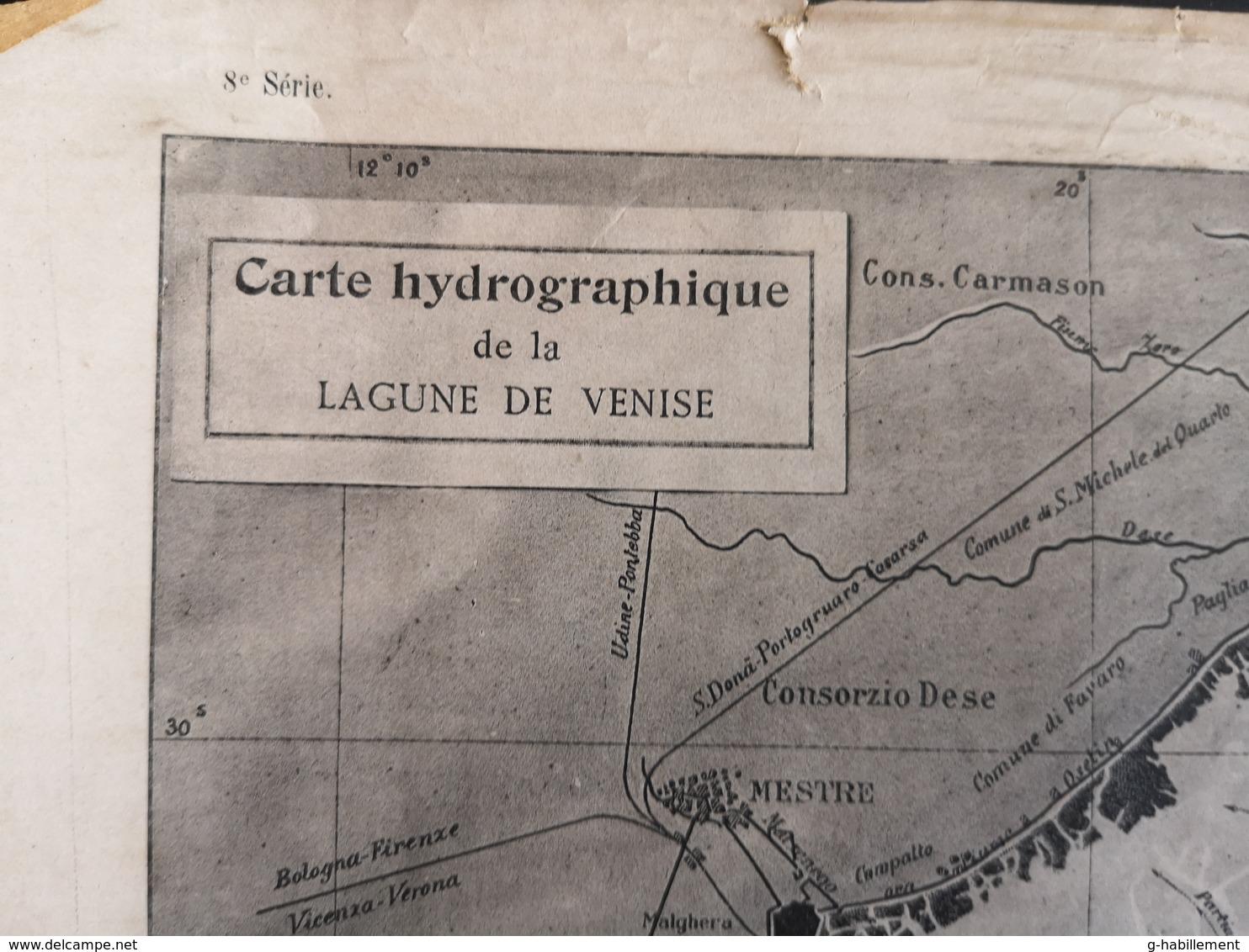 ANNALES PONTS Et CHAUSSEES (Italie) - Carte Hydrographique De La Lagune De Venise - 1906 (CLF51) - Cartes Marines