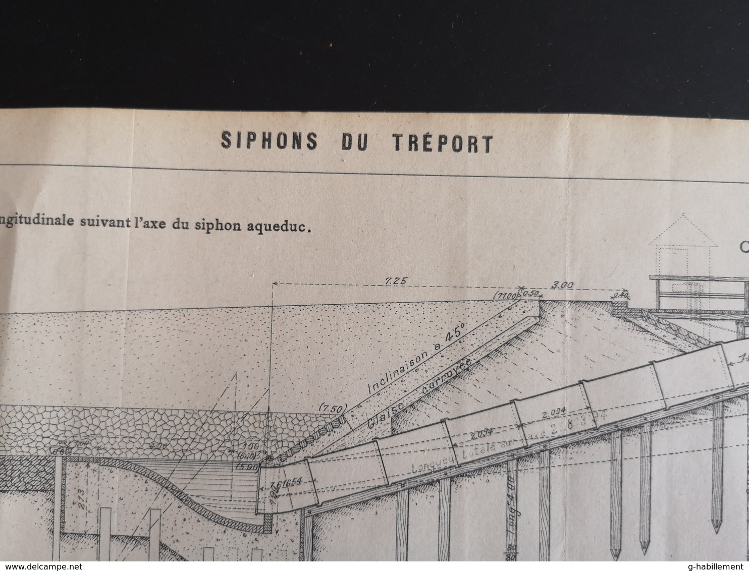ANNALES DES PONTS Et CHAUSSEES  - Siphons Du Tréport - 1904 (CLF62) - Travaux Publics