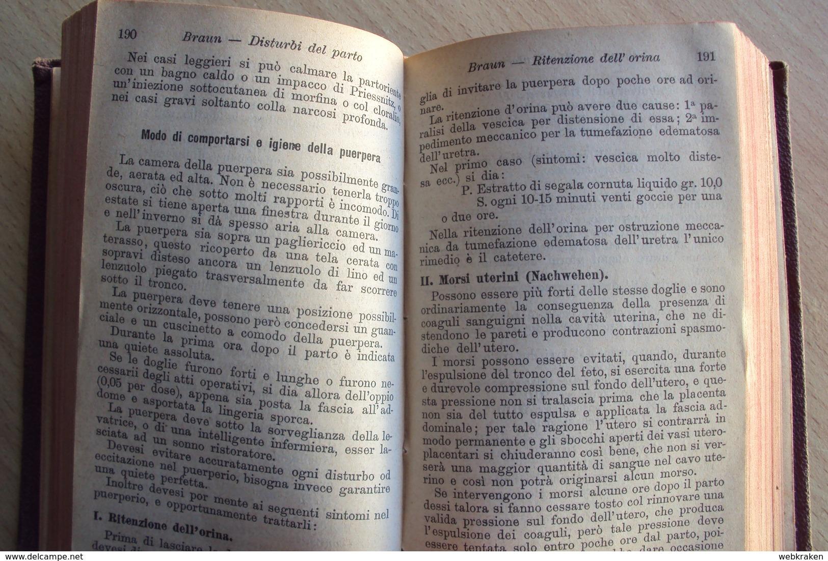 ITALIA RICETTARIO TASCABILE CENNI E FORMULE TERAPEUTICHE TORINO 1888 ERMANNO LOESCHER ROMA FIRENZE MEDICINA - Libri, Riviste, Fumetti