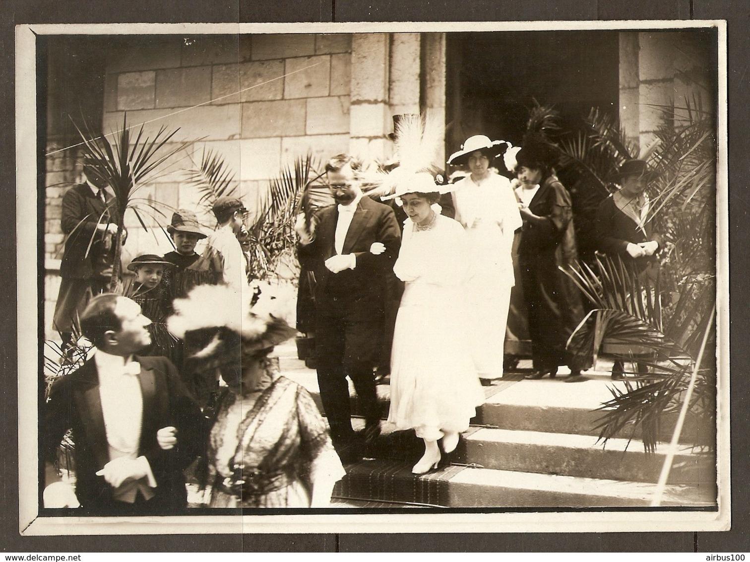PHOTO RAPID LYON DEBUT XX ème SIECLE 13 X 18 Cm - NOBLESSE CEREMONIE MARIAGE HABIT ROBE HAUTE FORME - NOBILITY WEDDING - Persone Anonimi