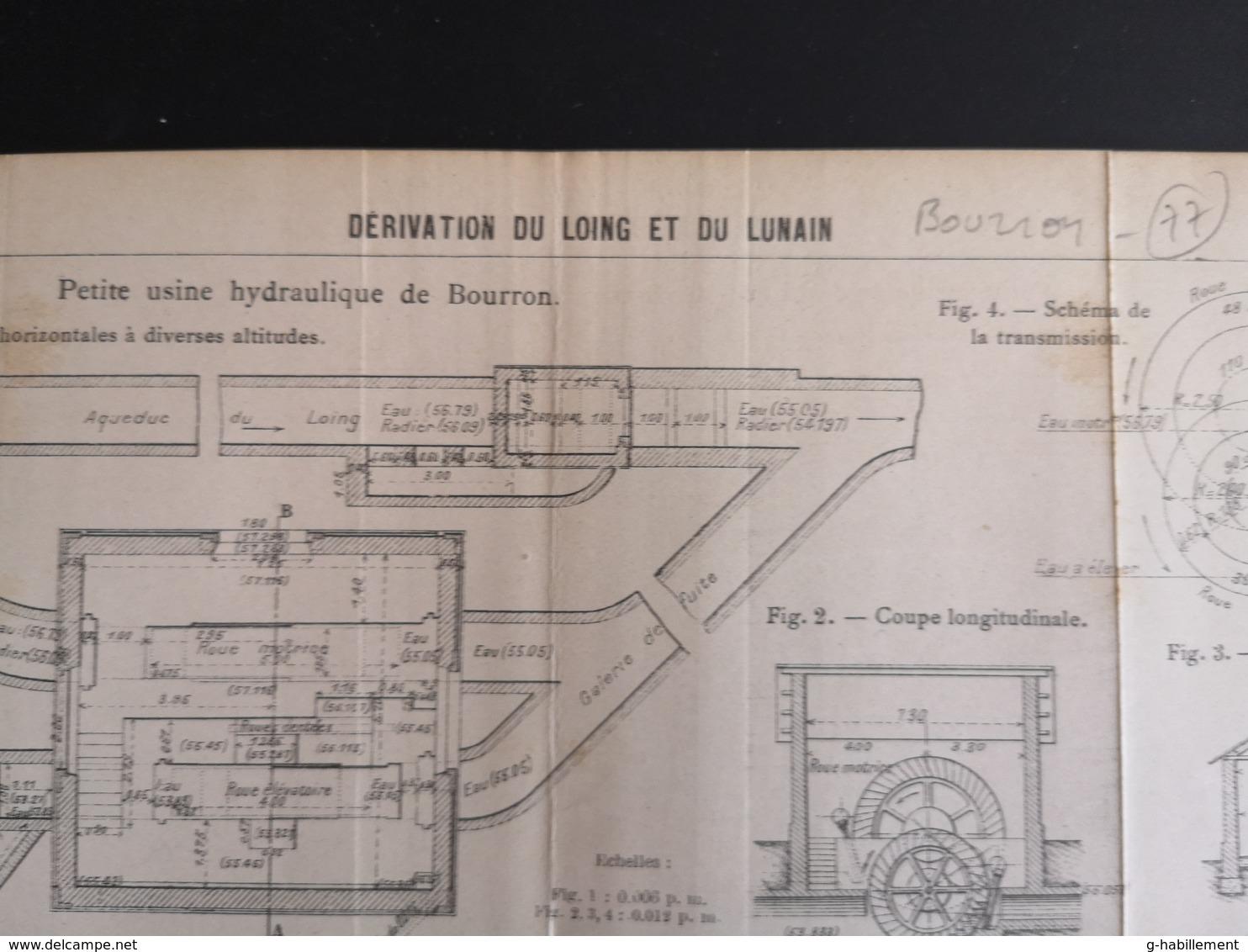 ANNALES DES PONTS Et CHAUSSEES (DEP 77) - Dérivation Du Loing Et Du Lunain - 1905 (CLF72) - Travaux Publics