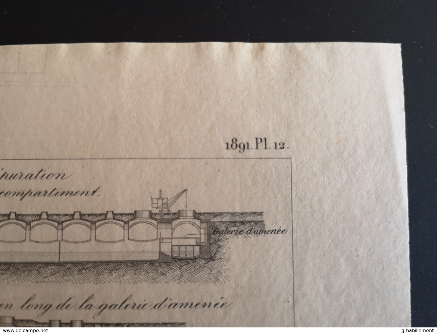 ANNALES DES PONTS Et CHAUSSEES (Allemagne) - Assainissement De Francfort-sur-le-mein - Gravé Par Macquet 1891 (CLF78) - Travaux Publics