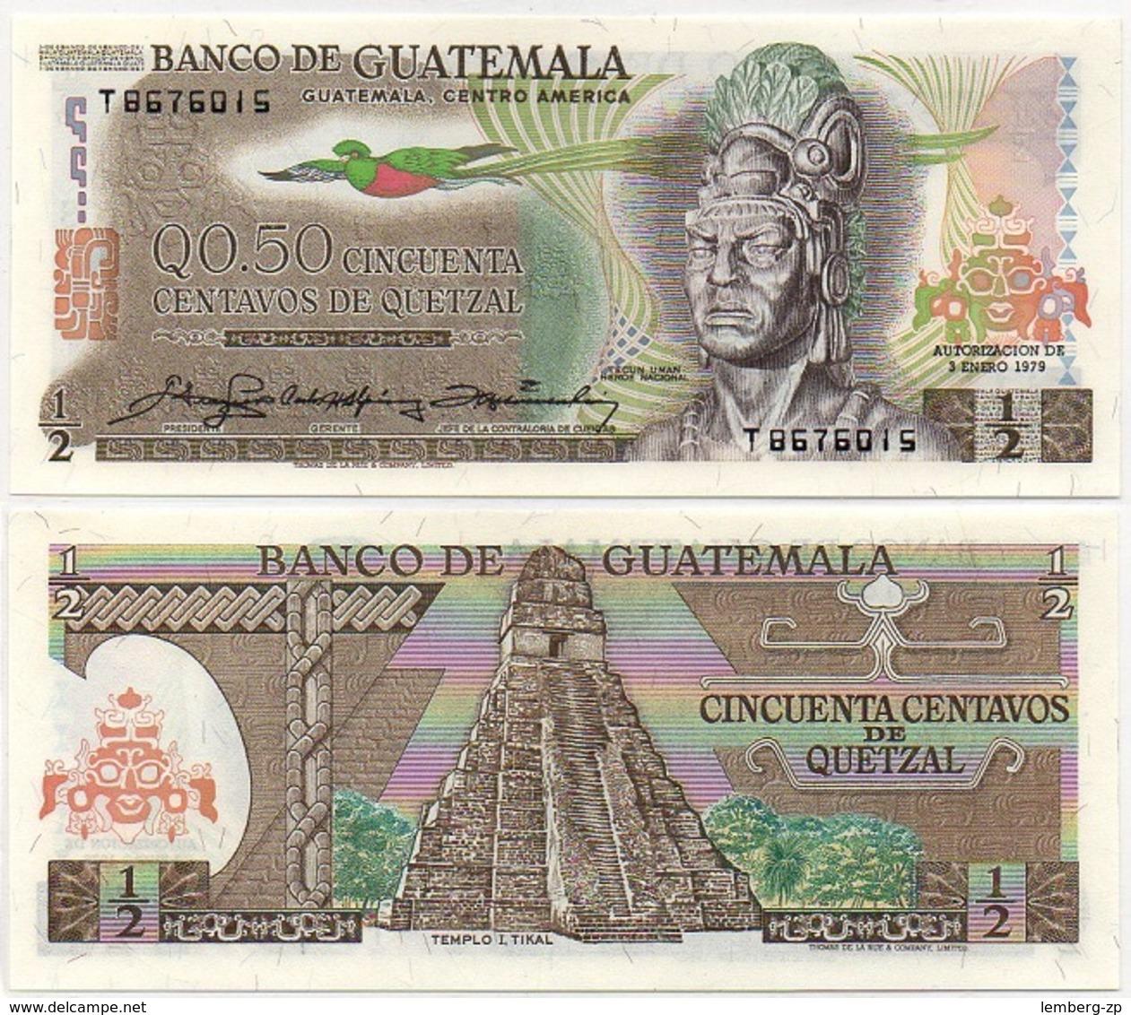 Guatemala - 1/2 Quetzal 1979 UNC Lemberg-Zp - Guatemala
