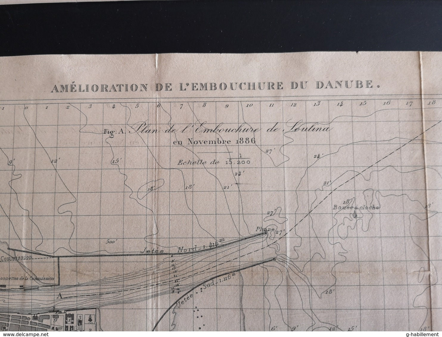 ANNALES DES PONTS Et CHAUSSEES (Allemagne) - Amélioration De L'embouchure Du Danube - Gravé Par Macquet 1893 (CLF92) - Obras Públicas