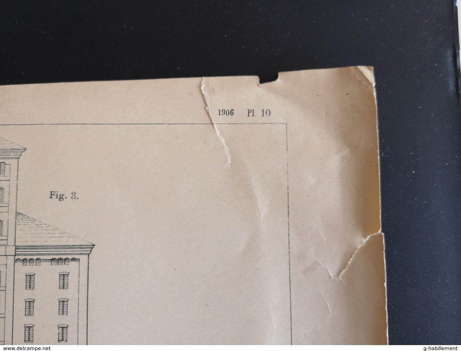 ANNALES DES PONTS Et CHAUSSEES (Italie) - Magasins A Blés De Venise Et De Gènes - 1906 (CLF99) - Travaux Publics