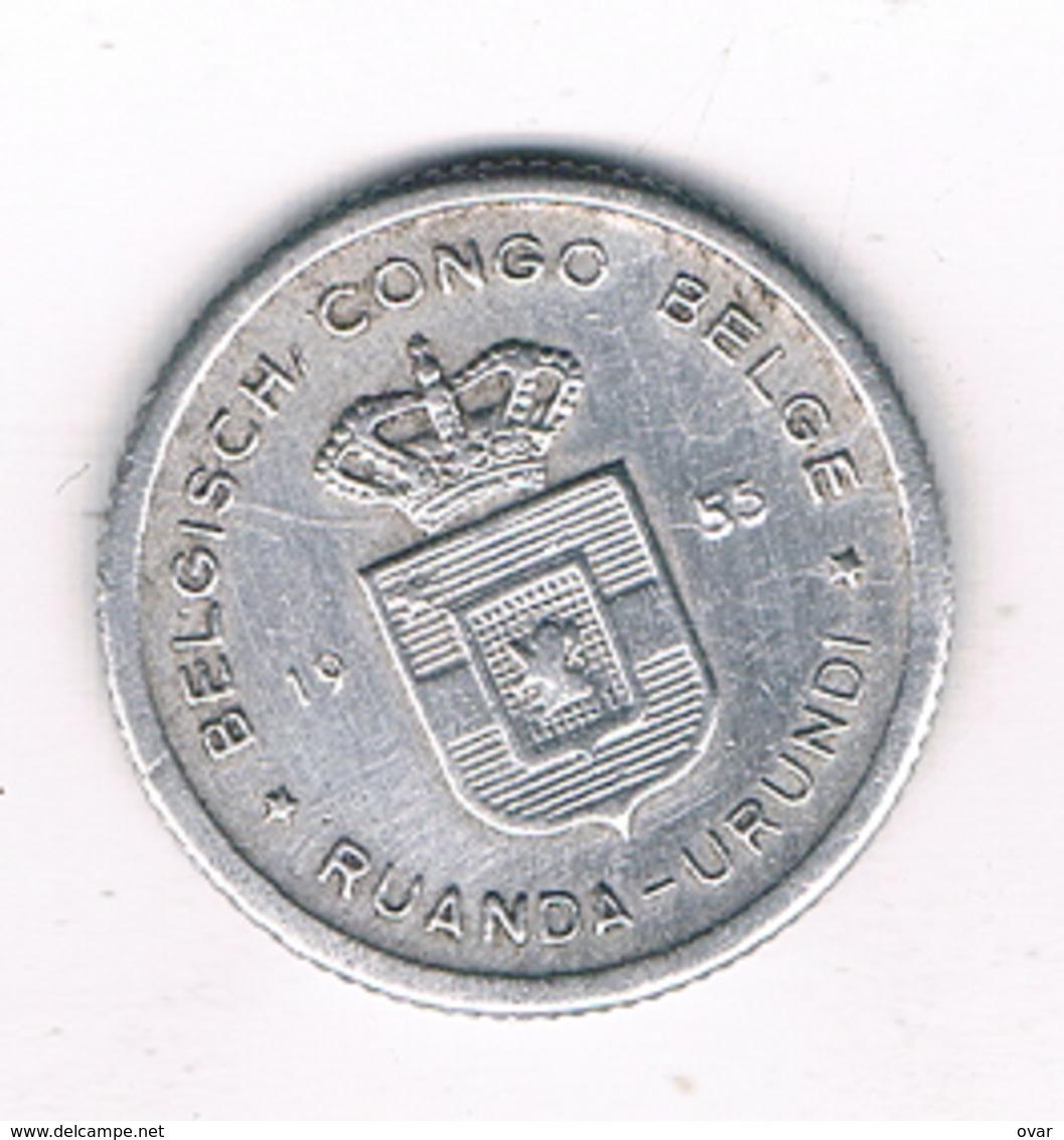50 CENTIMES 1955 BELGISCH CONGO /3477/ - 1951-1960: Baudouin I.