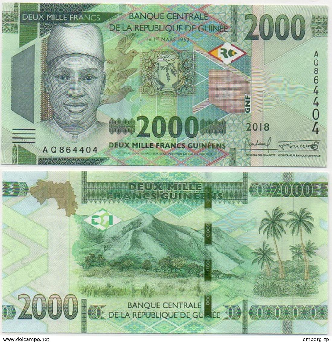 Guinea - 2000 Francs 2018 / 2019 UNC Lemberg-Zp - Guinea