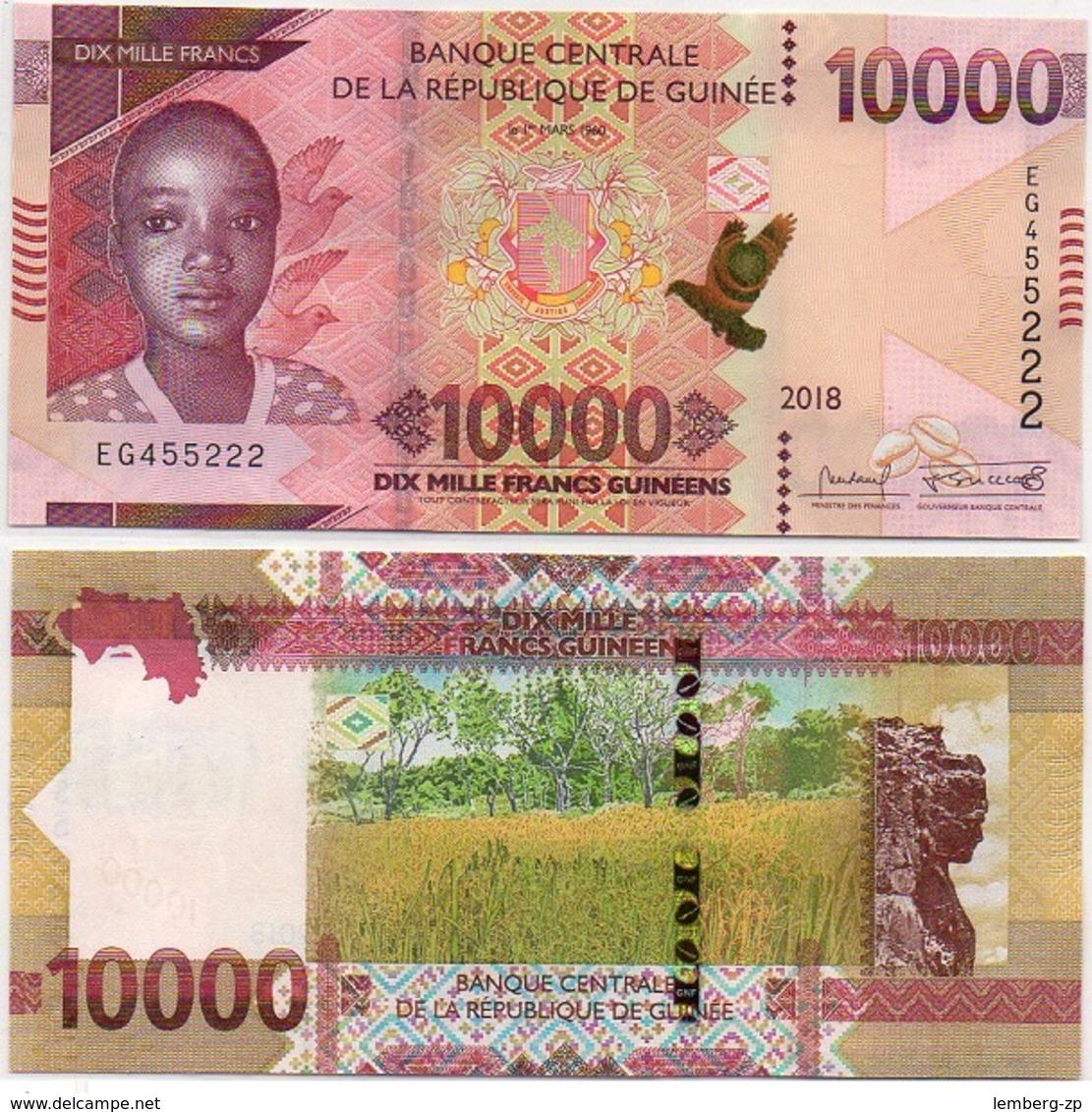 Guinea - 10000 Francs 2018 / 2019 UNC Lemberg-Zp - Guinée