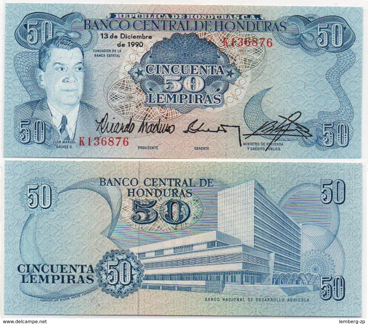 Honduras - 50 Lempiras 1990 UNC Lemberg-Zp - Honduras