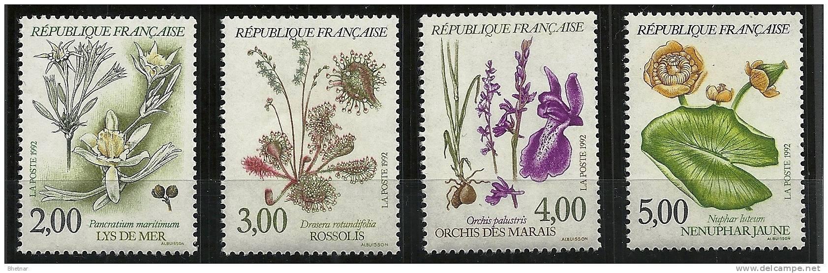 "FR YT 2766 à 2769 "" Fleurs Des étangs Et Marais "" 1992 Neuf** - Neufs"
