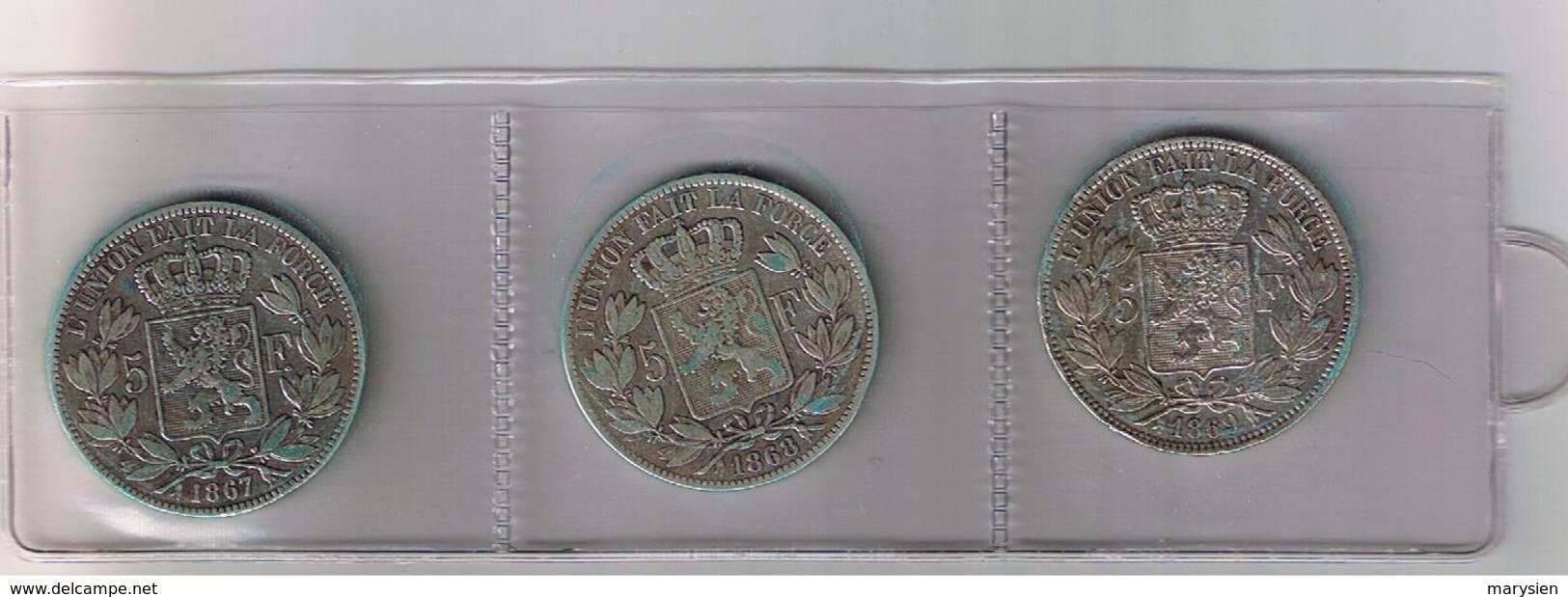 Zilvermunten Leopold II - 09. 5 Francs
