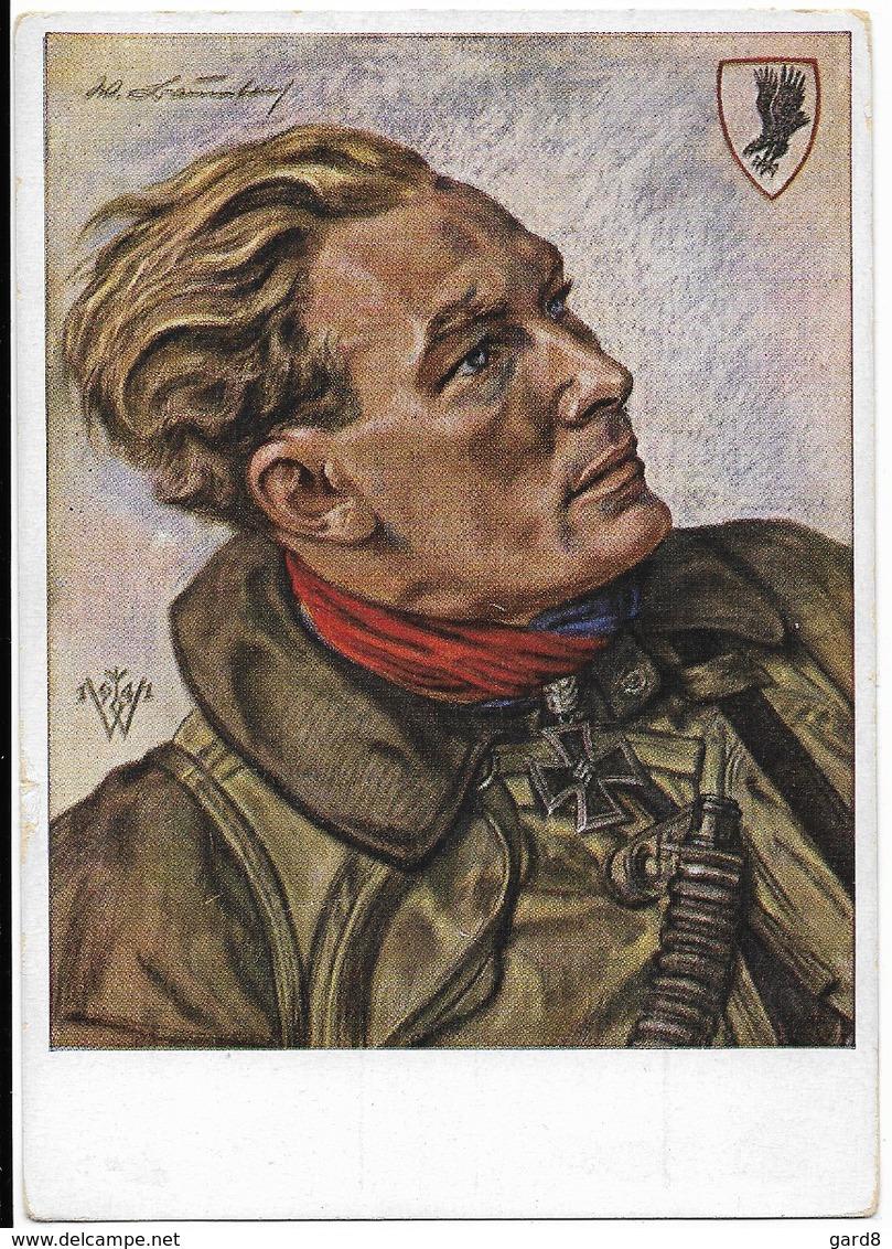 Ritterkreuzträger  Werhmacht Luftwaffe  - Hauptmann Baumbach - Dessin De Willrich - Personen