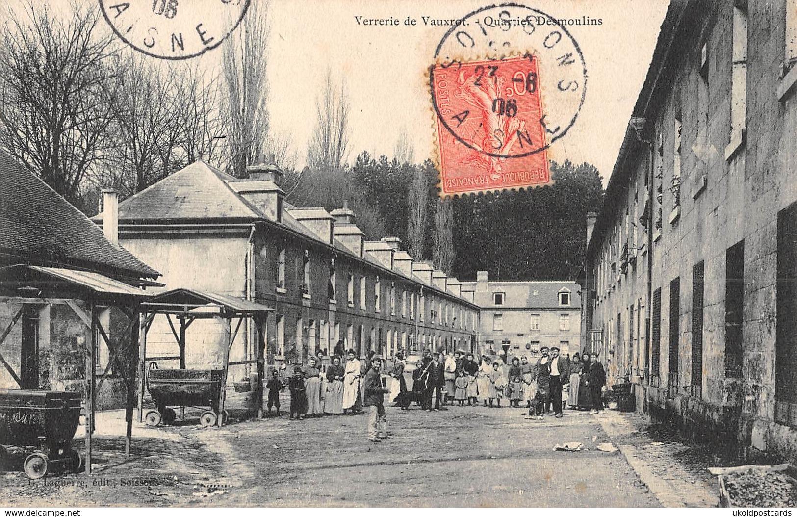 CPA 02 - Verrerie De VAUXROT Quartier Démoulins, 1906 - Other Municipalities