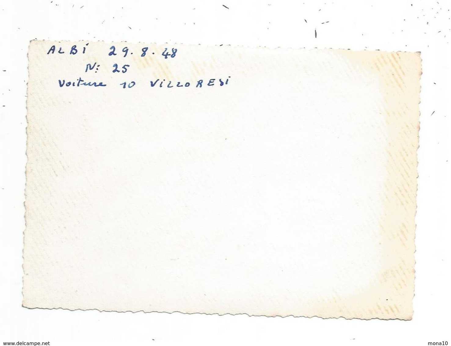 Photo Originale -Course Automobile -voiture De Course - 1948; Pilote Villoresi ; Albi - Cars