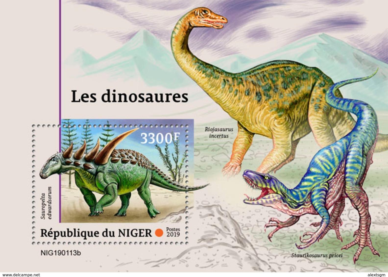 NIGER 2019 - Dinosaurs S/S. Official Issue - Prehistorisch