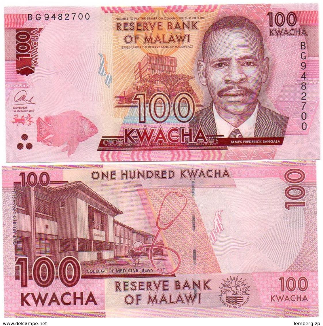 Malawi - 100 Kwacha 2017 UNC Lemberg-Zp - Malawi